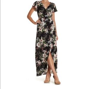 Floral Wrap dress size small